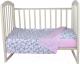Детское постельное белье Alis Спокойной ночи 3 / 1097 (Микки серый/горох розовый) -