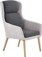 Кресло мягкое Halmar Purio (светло-серый/темно-серый) -