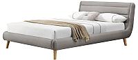 Двуспальная кровать Halmar Elanda 160x200 (светло-серый) -