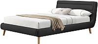 Двуспальная кровать Halmar Elanda 160x200 (темно-серый) -