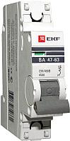 Выключатель автоматический EKF ВА 47-63 1P 63А (C) 4,5kA PROxima -