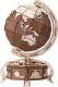Сборная модель EWA Глобус. Образовательная 3D модель Земли (коричневый) -