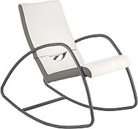 Кресло-качалка Halmar Balance (серый/белый) -