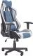 Кресло геймерское Halmar Cayman (светло-серый/бирюзовый) -