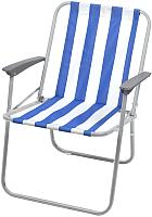 Кресло складное Ника КС4 (синий/белый) -