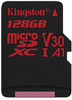 Карта памяти Kingston Canvas React microSDXC (Class10) UHS-I U3 128Gb (SDCR/128GB) -