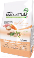 Корм для кошек Gheda Petfood Unica Natura Indoor курица, рис, морковь (350г) -