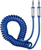 Кабель Olmio AUX 3.5m-3.5m / 039484 (1.8м, синий) -