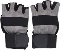 Перчатки для пауэрлифтинга Indigo 97867 IR (XL, черный/серый) -