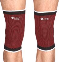 Суппорт колена Indigo 2001A-TSP (M, черный/красный) -