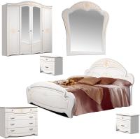 Комплект мебели для спальни ФорестДекоГрупп Луиза 4 (белый) -