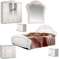 Комплект мебели для спальни ФорестДекоГрупп Луиза 5 (белый) -