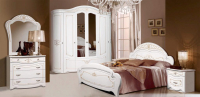 Комплект мебели для спальни ФорестДекоГрупп Луиза 6 (белый) -