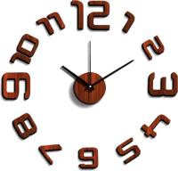 Часы-наклейка на стену KLEBER KLE-CL205 (темное дерево) -