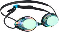 Очки для плавания Mad Wave Streamline Rainbow (бирюзовый) -