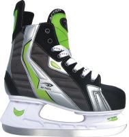 Коньки хоккейные Action Lucky PW-216AE (размер 39, черный/зеленый) -