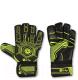 Перчатки вратарские Indigo 1218-A (размер 6, черный/зеленый) -