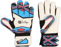 Перчатки вратарские Indigo 2023-D (размер 6, белый/голубой) -