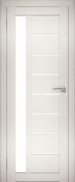Дверь межкомнатная Юни Двери Амати 04 60x200 (эшвайт/стекло белое) -