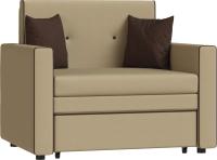 Кресло-кровать Нижегородмебель и К Найс ТД 111/4 85 (стронг 01/савана шоколад) -