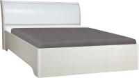 Двуспальная кровать Олмеко Мона 06.297 (откидной механизм/крокодил белый) -