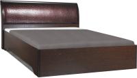 Двуспальная кровать Олмеко Мона 06.297 (откидной механизм/крокодил коричневый) -