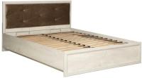 Двуспальная кровать Олмеко Соха 32.26-02 с откидным механизмом (бетон пайн белый) -