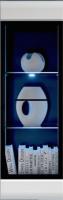 Шкаф навесной Gerbor Вушер SFW 1W (нимфеа альба/белый глянец) -