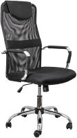 Кресло офисное Седия Germes (ткань/сетка, черный) -