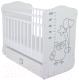 Детская кроватка СКВ 412001-2 (сова серый/белый) -