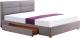 Двуспальная кровать Halmar Merida 160x200 (светло-серый) -