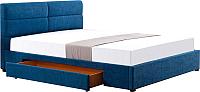 Двуспальная кровать Halmar Merida 160x200 (синий) -