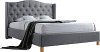 Полуторная кровать Signal Aspen 140x200 (серый) -