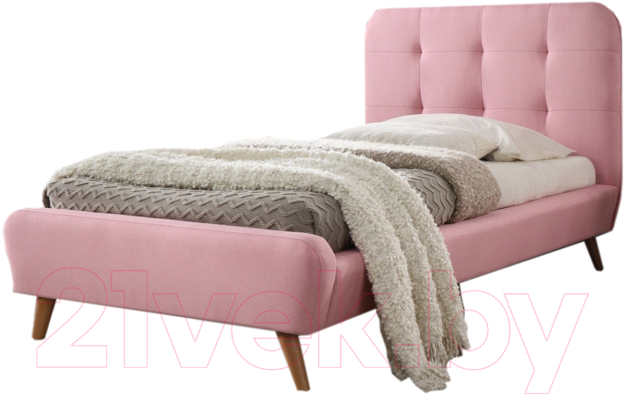 Купить Односпальная кровать Signal, Tiffany 90x200 (розовый), Польша