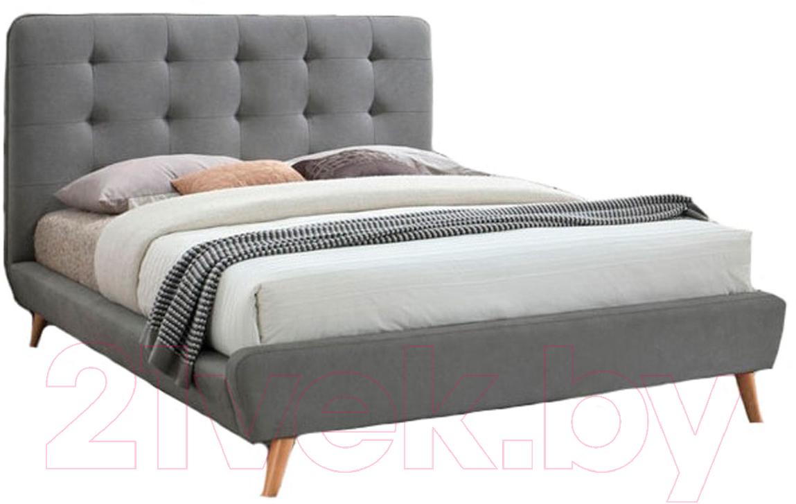 Купить Двуспальная кровать Signal, Tiffany 160x200 (серый), Польша