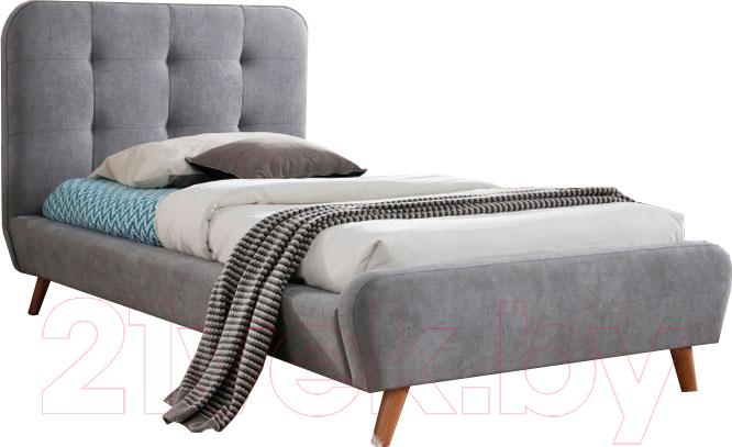 Купить Односпальная кровать Signal, Tiffany 90x200 (серый), Польша