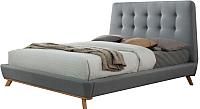 Двуспальная кровать Signal Dona 160x200 (серый) -