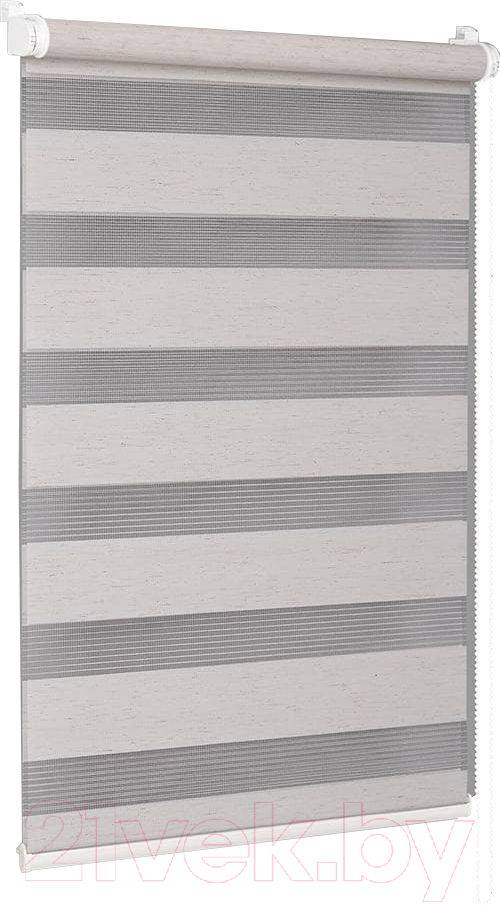 Купить Рулонная штора Delfa, Сантайм День-Ночь Натур МКД DN-408 (57x160, лён), Беларусь, ткань