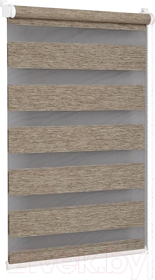 Купить Рулонная штора Delfa, Сантайм День-Ночь Натур МКД DN-4303 (68x160, латте), Беларусь, ткань