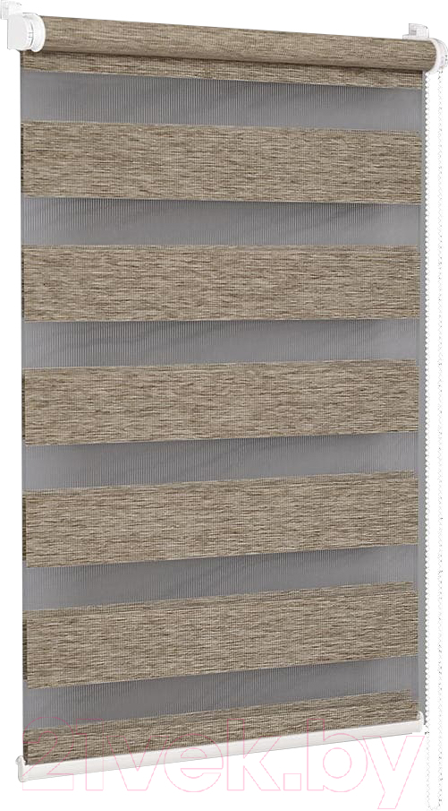 Купить Рулонная штора Delfa, Сантайм День-Ночь Натур МКД DN-4303 (68x215, латте), Беларусь, ткань