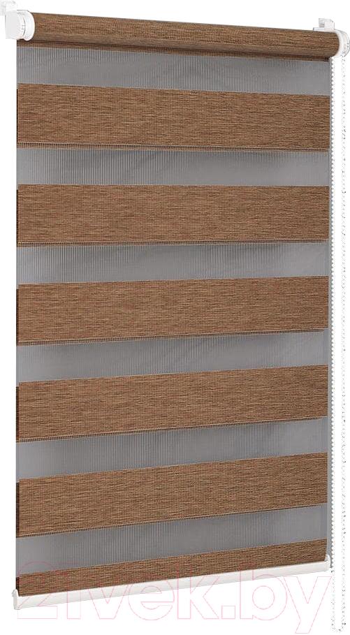 Купить Рулонная штора Delfa, Сантайм День-Ночь Натур МКД DN-4304 (34x160, липа), Беларусь, ткань