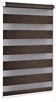 Рулонная штора Delfa Сантайм День-Ночь Натур МКД DN-4305 (34x160, шоколад) -