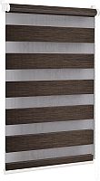 Рулонная штора Delfa Сантайм День-Ночь Натур МКД DN-4305 (81x160, шоколад) -