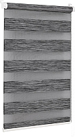 Рулонная штора Delfa Сантайм День-Ночь Натур МКД DN-4306 (34x160, графит) -