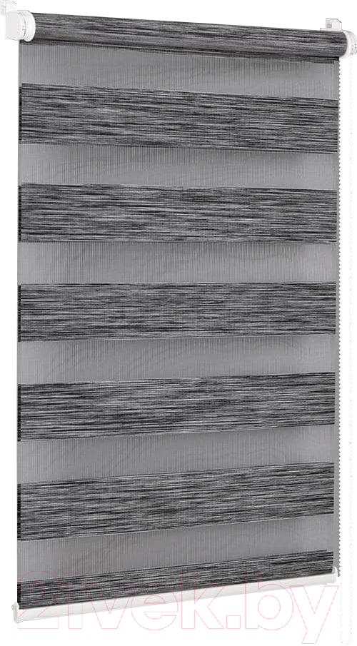 Купить Рулонная штора Delfa, Сантайм День-Ночь Натур МКД DN-4306 (48x160, графит), Беларусь, ткань