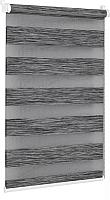 Рулонная штора Delfa Сантайм День-Ночь Натур МКД DN-4306 (62x160, графит) -