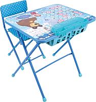 Комплект мебели с детским столом Ника КУ2П/18 Маша и Медведь: Азбука 4 -