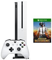 Игровая приставка Microsoft Xbox One S 1ТБ + PUBG код + Game Pass на 1 месяц / 234-00311 (с подпиской Xbox Live Gold на 1м) -