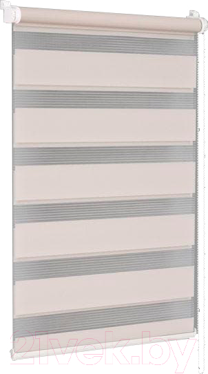Купить Рулонная штора Delfa, Сантайм День-Ночь Стандарт МКД DN-41021 (34x160, бежевый), Беларусь, ткань
