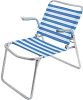 Кресло складное Ника К1 (синий/белый) -